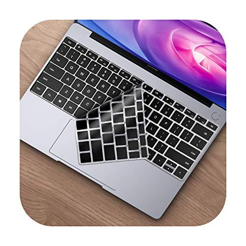 Keyboards Funda de teclado para Huawei Matebook 13 14 X Pro 16.1 Silicona Protector de teclado para Honor Magicbook 14 15 D14 D15-Black-Matebook X Pro 2020