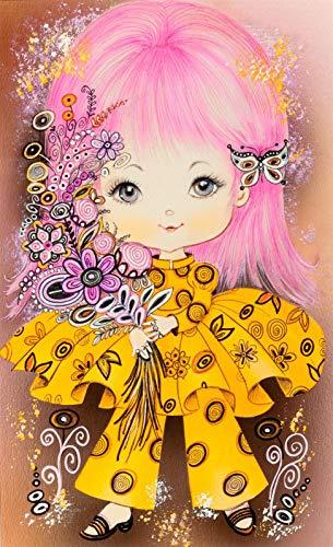 Puzzle 1500 Piezas Educa Rompecabezas Para Adultos De Madera 3D Clásico Disfraz Amarillo Flores Niña Coleccionables Diy Decoración Casera Moderna,87X57Cm