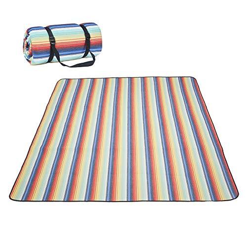 Große Picknick-Decke im Freien, 4 Größen wasserdichte Faltbare Decken Gingham-Picknickmatte für Strand, Camping auf Gras Familienkonzerte Feuerwerk (Color : B, Size : 2MX2M (6.5ftx6.5ft))
