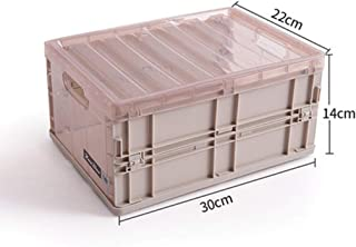 PPCP Storage Box Plastic Foldable Transparent Storage Box Book Storage Box (Color : Brown)