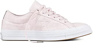 Converse Unisex Adults' Low-Top Sneakers, Pink Rosa/Silber, 7 UK