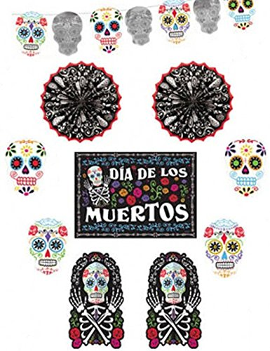Amscan International 241168 - Guirnaldas decorativas, diseño de calaveras