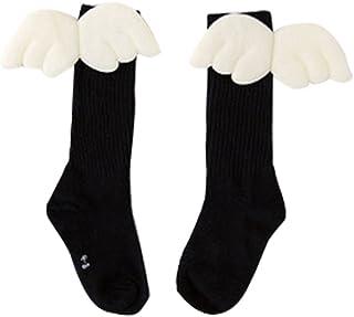 Kanggest., Kanggest.Calcetines de otoño e Invierno Medias Calcetines con Alas para Niño Niña Calcetines de Lana Gruesos Largos Novedad Elástico Deportes Socks Calcetines de Nieve Calientes Negro