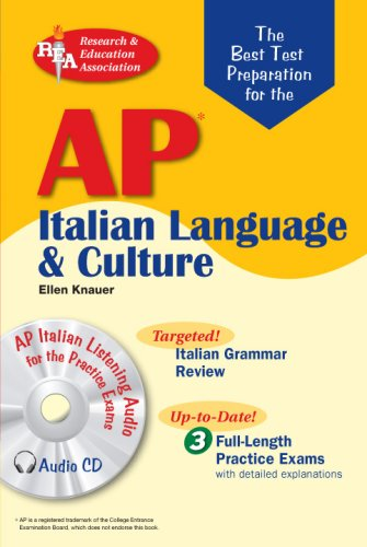 AP Italian Language and Culture w/ Audio CDs (Advanced Placement (AP) Test...