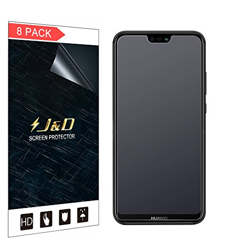 J&D Compatibile per 8 confezioni Huawei P20 Lite Protezione Schermo, [Anti-riflesso] [Anti-impronte] [Non Piena Copertura] Matte pellicola protettiva per Huawei P20 Lite - [Non per Huawei P20/P20 Pro]