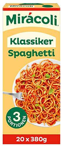 MIRÁCOLI Fertiggerichte Klassiker Spaghetti, 3 Portionen, 20 Packungen (20 x 380g)
