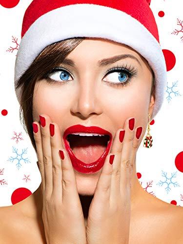 12 Paires Boucles d'Oreilles Pendantes de Goutte de Noël Ensemble de Boucles d'Oreilles de Bijoux de Noël pour Femmes… 3 Bijoutier Boutique Thème de Noël: notre ensemble de boucles d'oreilles a diverses formes, y compris bonhomme de neige, flocons de neige, boîte de cadeau, forme de clochettes, arbres de Noël, etc. articles de Noël classiques, l'air si mignon et adorable, correspond au thème de Noël, créant une bonne atmosphère de festival Matériau durable: ces boucles d'oreilles de Noël sont faites de métal avec une surface brillante et lisse, difficile à décomposer et vous pouvez l'utiliser longtemps avec un bon rangement Accessoire délicat: différents modèles de boucles d'oreilles sont plus faciles à assortir avec différents vêtements, adaptés à Noël, aux cérémonies, aux accessoires photo, assistez à une variété de parités, également très agréables pour un usage quotidien, aident à compléter votre accessoire de costume