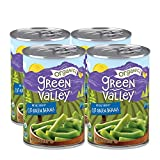 Green Valley Organics Cut Green Beans | Certified Organic | Non-GMO Project Verified | Deliciously Mild Subtly Sweet Flavor, Tender-Crisp | 14.5 oz can (Pack of 4)