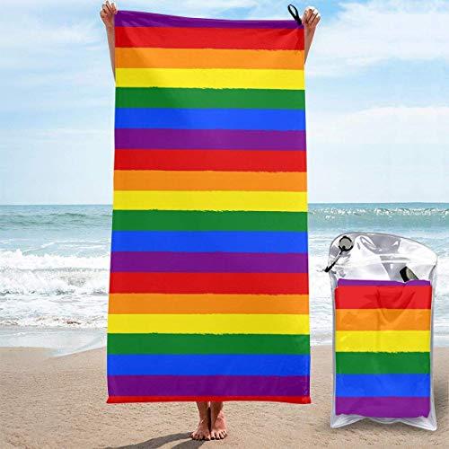 Toallas de playa Bandera LGBT del Orgullo Gay Sábanas de toallas de baño Ropa de baño Manta de secado rápido Camping Viajes Piscina grande Trajes de baño Cubiertas Novedad Toallas Estera de yoga para