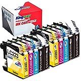 Kingway LC223 Cartuchos de Tinta para Brother LC223 Compatible con Brother DCP-J4120DW MFC-J5625DW MFC-J480DW MFC-J5320DW MFC-J4625DW DCP-J562DW MFC-J4620DW MFC-J5720DW MFC-J5620DW MFC-J4420DW