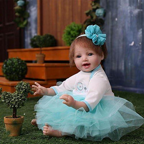 SHTWAD Realistische Reborn Babypuppe Ausbildung Fotografie Requisiten Silikon Tuch   21.7 Zoll Geburtstag