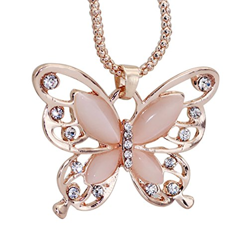 Gespout Collier Bijoux Pour Femme et Fille Alliage Motif Papillon Soirée de Mariage Saint-Valentin Fête des Mères Cadeaux d'anniversaire