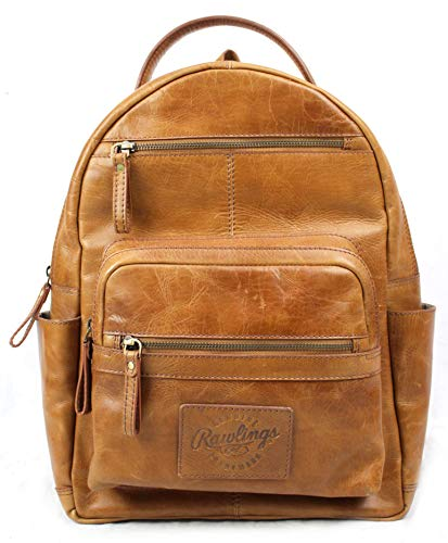Rawlings Heritage Collection Leather Backpack (Tan, 15')