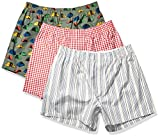 Amazon Brand - Goodthreads Men's 3-Pack Stretch Woven Boxer Shorts, Tent, Medium