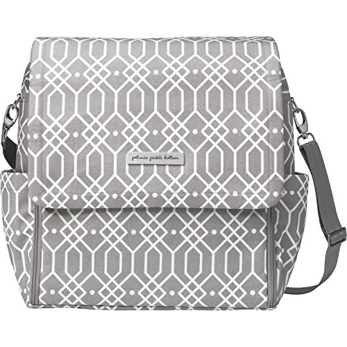 Petunia Pickle Bottom - Boxy Diaper Bag Backpack for the modern parent - Baby changing mat & station - Pockets to keep you organized - Multiple carrying options - cross-body/shoulder - Quartz