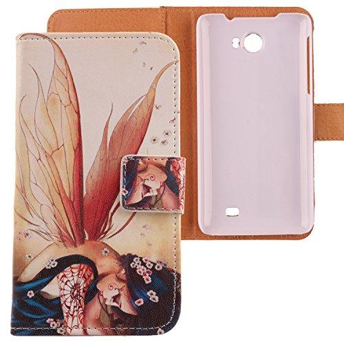 Lankashi PU Flip Leder Tasche Hülle Hülle Cover Schutz Handy Etui Skin Für Kazam Trooper 2 5.0 Wing Girl Design