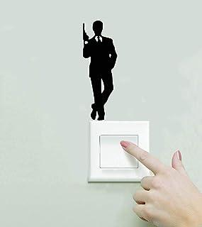 James Bond 007 Switch Sticker, Home Decor, Waterproof Wall Stickers