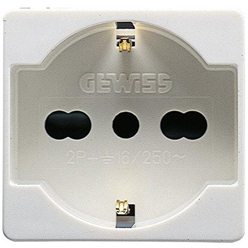 Gewiss GW20246 Standaard stopcontact Italiaans Duits seriesysteem, wit