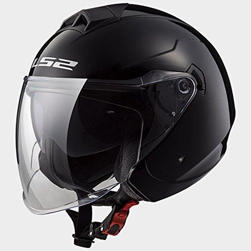 LS2 of573 Twister Casque Jet Moto Vélo DVS Casques ouverts de moto noir brillant S(55-56cm)