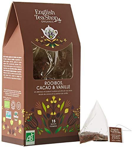 English Tea Shop - Schokolade Rooibos & Vanille, BIO, 15 Pyramiden-Beutel in Papierbox