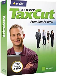 H&R Block TaxCut 2008 Premium Federal + Efile - Windows/Mac