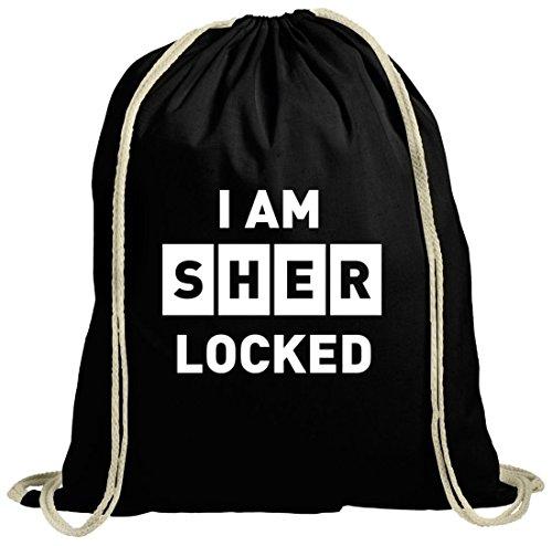 Serien natur Turnbeutel I Am Sher Locked, Größe: onesize,schwarz natur