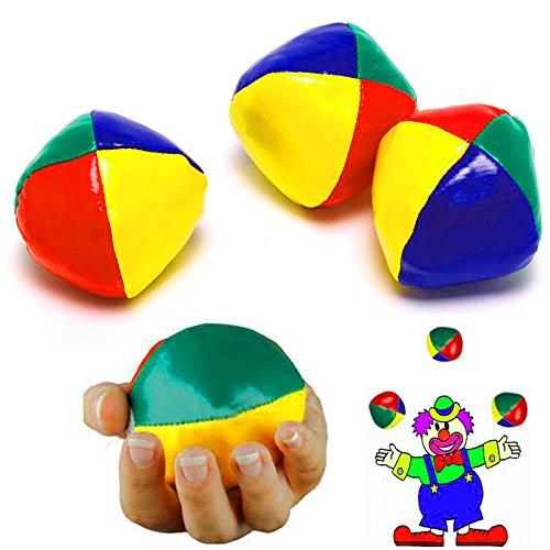 German-Trendseller ® -3 x Jonglierbälle Zirkus l 50 mm┃ Jongleur ┃ Lernen ┃ Für Artisten und Zirkus ✔