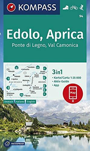 Carta escursionistica n. 94. Ponte di Lgno, Val Camonica 1:35.000: 3in1 Wanderkarte 1:35000 mit Aktiv Guide inklusive Karte zur offline Verwendung in der KOMPASS-App. Fahrradfahren. Skitouren.