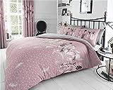 Homemaker Pink duvet sets dream catcher grey feathers design quilt cover & pillow casesbedding (King)