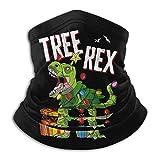 XXUU Tree Rex Funny Christmas Neck Polaina Tube Máscara Headwear, Motocicleta Face-Mask Face Scarf, ...