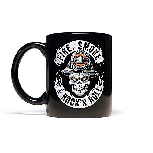 Der Kaffeebecher FIRE SMOKE & ROCK´n ROLL für Firefighter