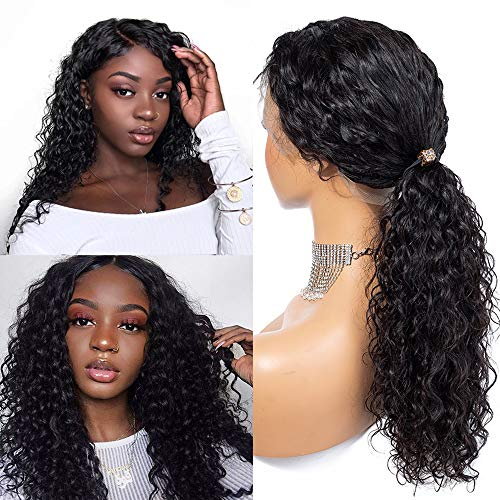 Gluless Deep Wave 8A Lace Front Wigs Front Wigs 16 inch Unprocessed Brazilian Virgin Human Hair Wig Pre Plucked with Baby Hair Wig for Black Women