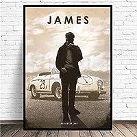 ジェームズディーンカークラシックムービースターポスターウォールアートピクチャーキャンバスポスターとプリントHDプリント油絵壁画リビングルーム家の装飾フレームレス絵画