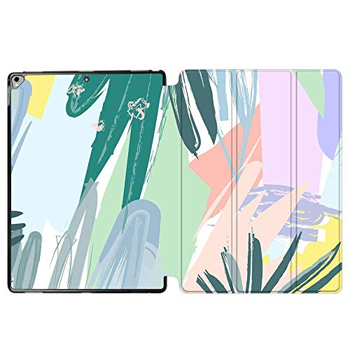 iPad Pro 12.9 Case 2017 A1670 / A1671, SDH Stand Smart Cover Apple iPad Pro 12.9 inch 2015 A1584 / A1652 Case Leather Folio Cover for iPad Pro 12.9'' with Auto Sleep/Wake,Abstract Plants 9
