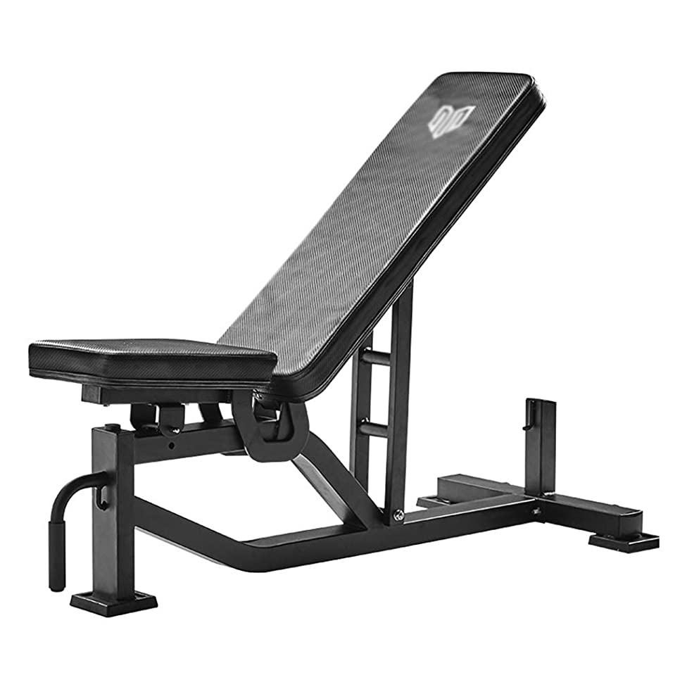 ワインアルカイック哲学トレーニングベンチ 折りたたみ重量テーブル商業ダンベルベンチプロのフィットネス機器多機能腹筋ボードの鳥ベンチベンチベンチフィットネスチェア 仰臥位ボード (Color : Black, Size : 136.2*64.4*119.4cm)