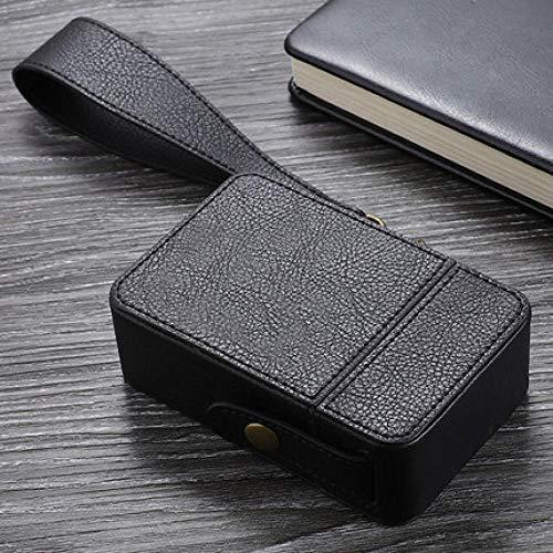 WSS Shoes Caja de Cigarrillo Sostiene Cigarrillo 20pcs Retro Caja de Cuero Cuerda de Seguridad portátil Fumadores Gadget contenedor de Almacenamiento Caja Mejor Regalo Europeo for los Hombres-Brown