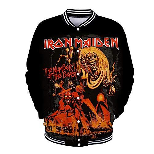 Unisex Iron Maiden Sudaderas Chaqueta béisbol Unisex