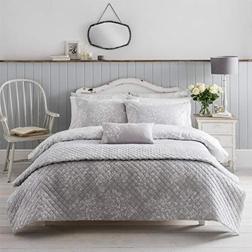CATH KIDSTON lavado rosa floral gris 200TC 100% algodón tamaño King (funda nórdica 230 cm x 220 cm) 4 piezas juego de cama