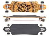 MAXOfit® Deluxe Longboard GeoLines Bamboo No.96, Drop Through,...