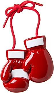 Personalized Red Boxing Gloves Christmas Tree Ornament 2019 - Combat Sport Strike Grapple UFC Kick-Box Boxer Punch Team Athlete Hobby Profession Gym Friend Loose Gift Year MMA - Free Customization