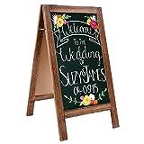 RHF Extra Large 40'x22' Chalkboard Sign, Handcrated A Framed Chalk Board Sign,Sandwich Black Board,Rustic Wedding Signs,Chalkboard Easel,Sidewalk Sign,Double Sided Message Board,Free Standing, Brown