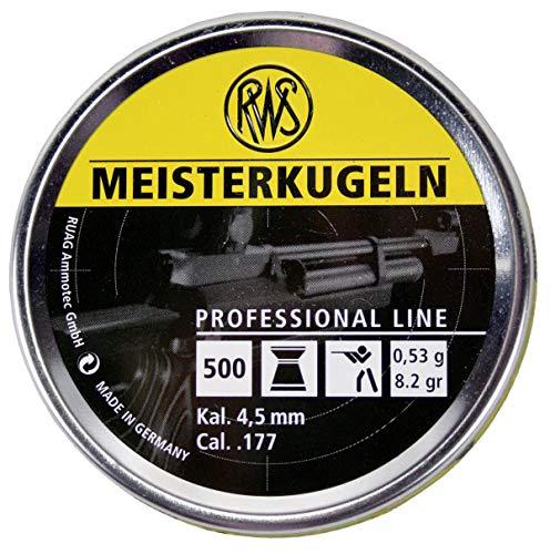 RWS Meisterkugeln Rifle .177 Cal, 8.2 Grains, Wadcutter, 500ct