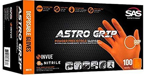 Astro Grip Powder-Free Nitrile Disposable Glove, Medium Size, Full Case (10 Boxes of 100)