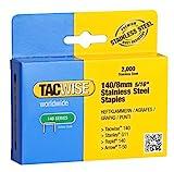 Tacwise 1216 Grapas de Acero Inoxidable de Tipo 140/8 mm, Plata, 140 8 mm
