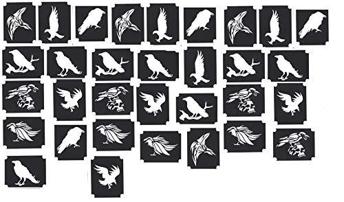 Tattoo Henna Glitzer Schablonen (Raven Rabe)