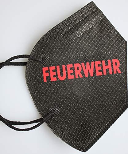 Fan-Omenal 1 Schwarze Maske Deutsche Herstellung mit Bügeltransfer - Feuerwehr - 15801/1
