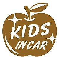 imoninn KIDS in car ステッカー 【パッケージ版】 No.63 リンゴ (ゴールドメタリック)