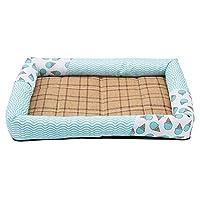 帅帅ペット用品 寝マット、洗えるパッド滑り止め冷却付きの夏のペットの犬のベッド。 (Size : L 66×46×8cm)
