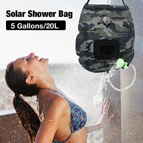 Affordable No Branded Solar Shower Bag,5 Gallons/20L Solar Camping Solar Shower Bag, with Removable ...
