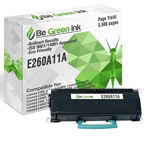 Be Green Ink Compatible Replacement Black Toner Cartridge for Lexmark E260, E260D, E260DN, E260DT, E260DTN, E360, E360D, E360DN, E360DTN, E460, E460D, E460DN, E460DTN, E460DW, E462, E462DTN - E260A11A
